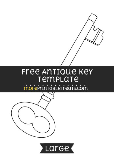 Free Antique Key Template - Large