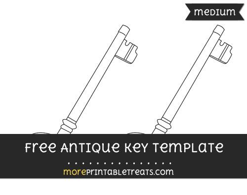 Free Antique Key Template - Medium