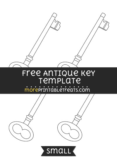 Free Antique Key Template - Small
