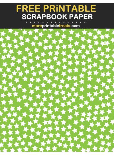 Free Printable Apple Green Star Confetti Scrapbook Paper