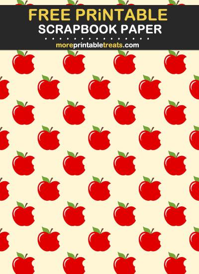 Free Printable Apple Scrapbook Paper