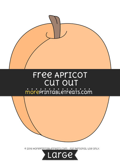 Free Apricot Cut Out - Large