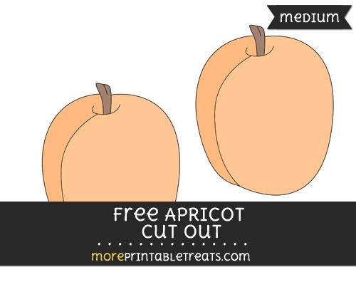 Free Apricot Cut Out - Medium