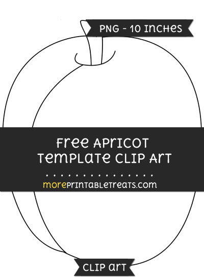 Free Apricot Template - Clipart