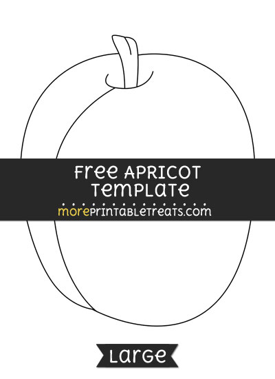 Free Apricot Template - Large