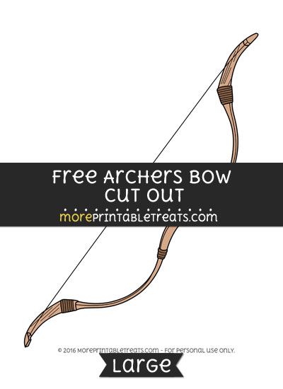 Free Archers Bow Cut Out - Large