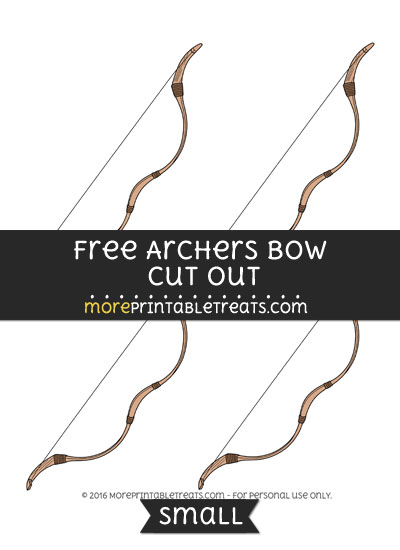 Free Archers Bow Cut Out -Small