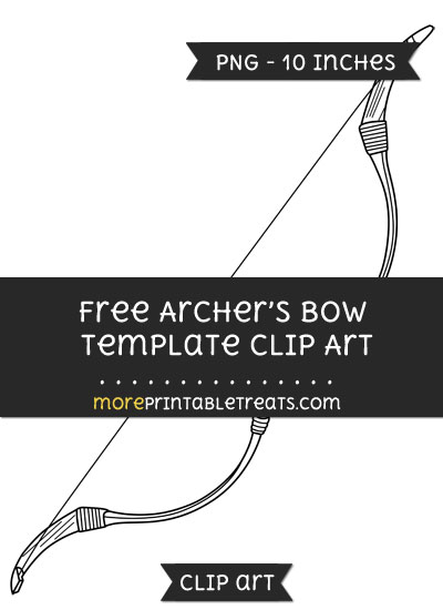 Free Archers Bow Template - Clipart