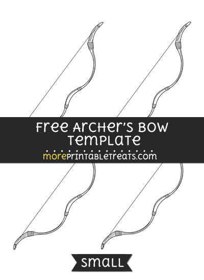 Free Archers Bow Template - Small