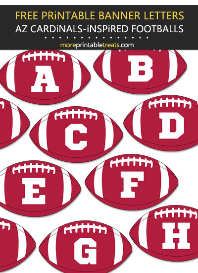 Free Printable Arizona Cardinals-Inspired Football Alphabet