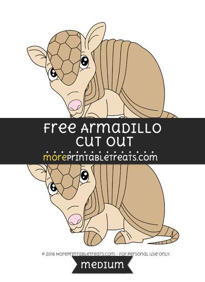 Free Armadillo Cut Out - Medium