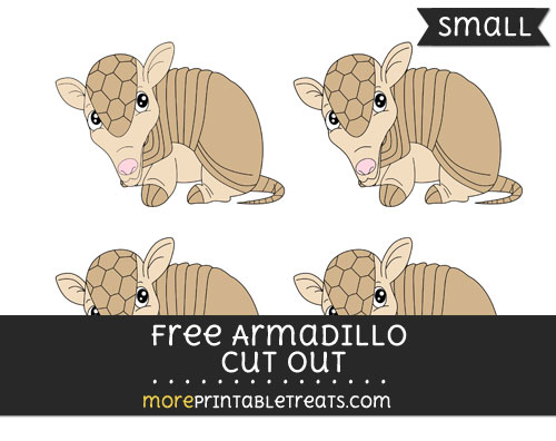 Free Armadillo Cut Out -Small