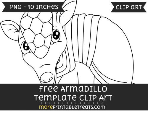 Free Armadillo Template - Clipart