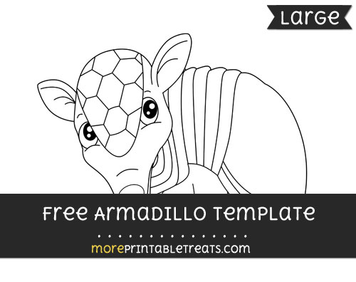 Free Armadillo Template - Large