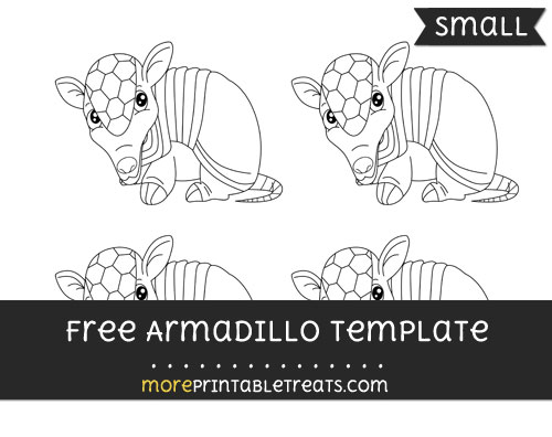 Free Armadillo Template - Small