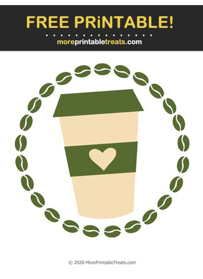 Free Printable Army Green Coffee Icon Cut Out