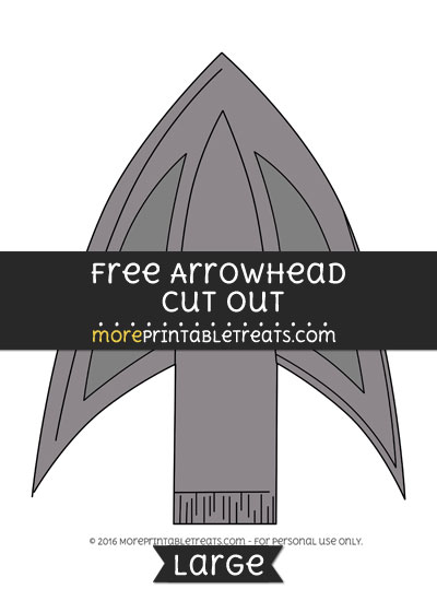 Free Arrowhead Cut Out - Large