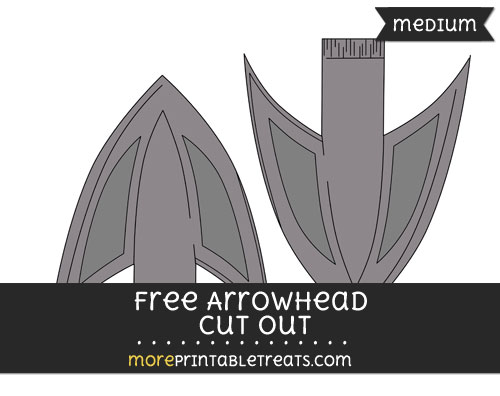 Free Arrowhead Cut Out - Medium