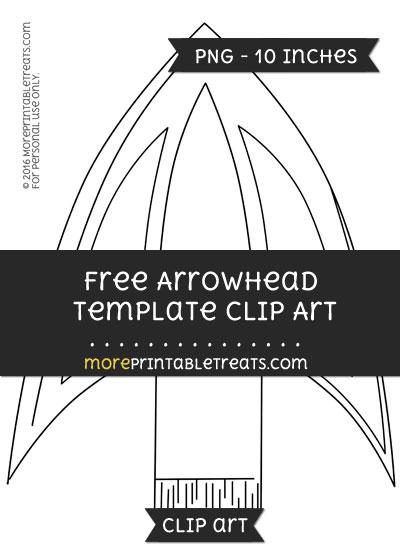 Free Arrowhead Template - Clipart