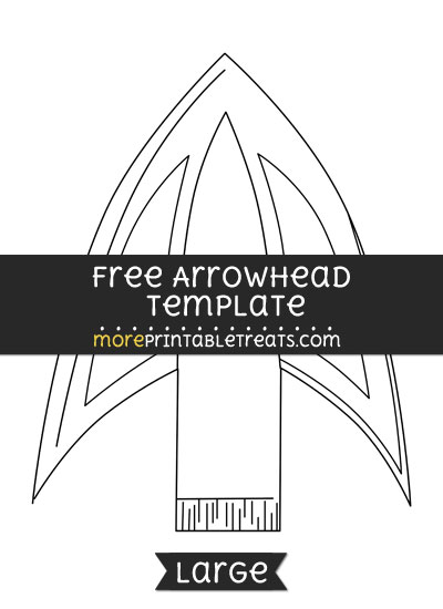 Free Arrowhead Template - Large