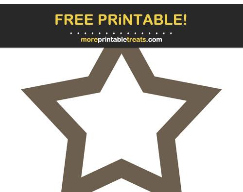Free Printable Ash Brown Star Frames