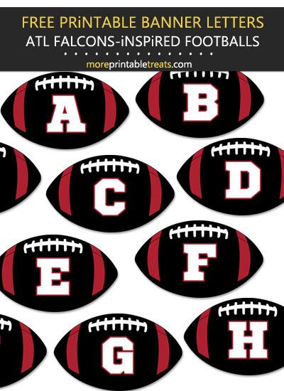 Free Printable Atlanta Falcons-Inspired Football Alphabet