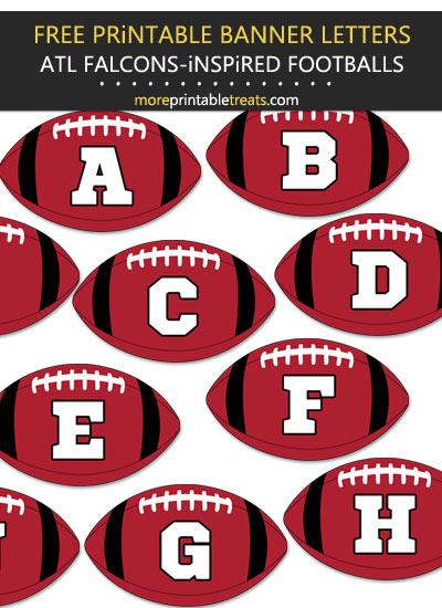 Free Printable Atlanta Falcons-Inspired Football Bunting Banner