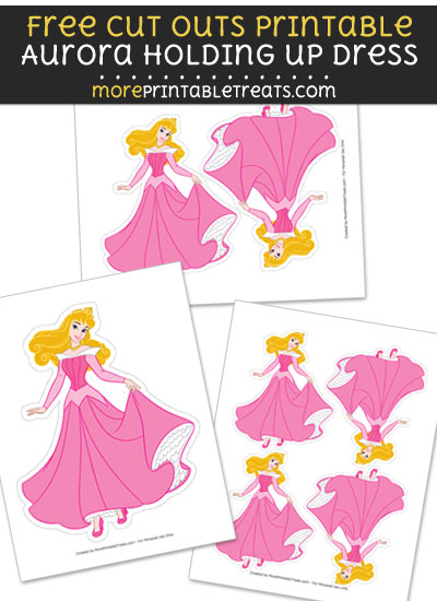Free Aurora Cut Out Printable with Dotted Lines - Sleeping Beauty