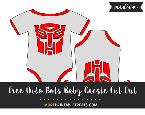 Free Auto Bots Baby Onesie Cut Out - Medium