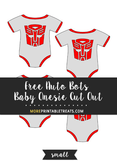 Free Auto Bots Baby Onesie Cut Out - Small