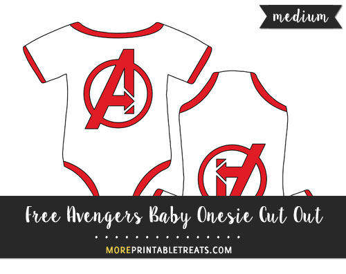 Free Avengers Baby Onesie Cut Out - Medium