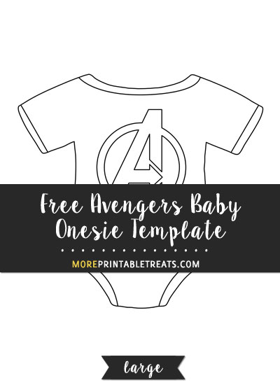 Free Avengers Baby Onesie Template - Large