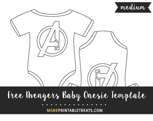 Free Avengers Baby Onesie Template - Medium Size
