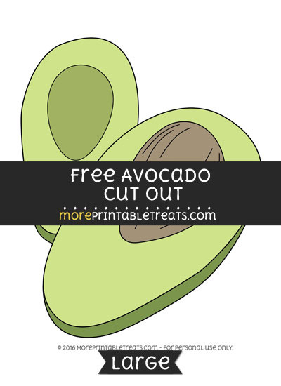 Free Avocado Cut Out - Large
