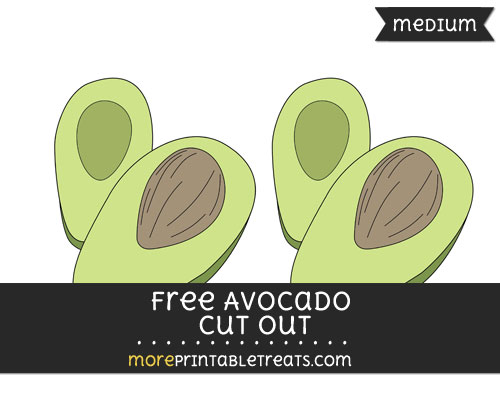 Free Avocado Cut Out - Medium