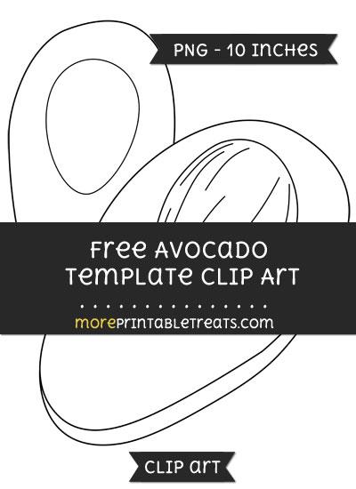 Free Avocado Template - Clipart