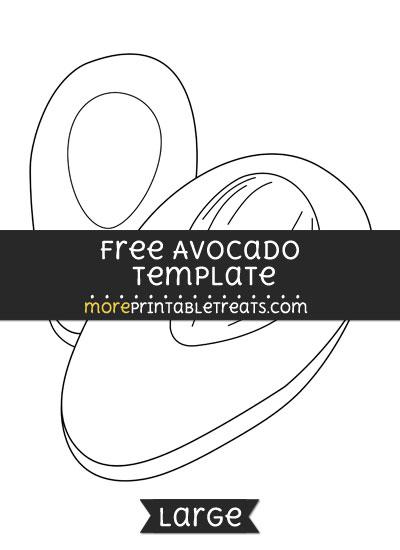 Free Avocado Template - Large