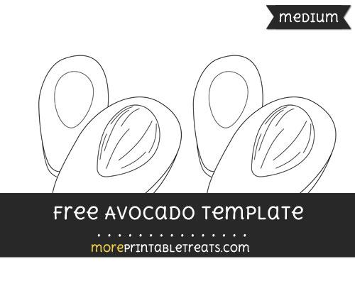 Free Avocado Template - Medium
