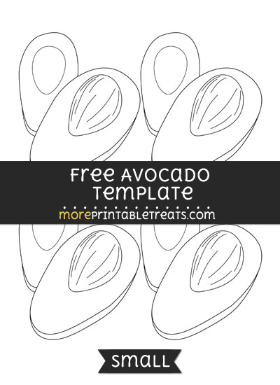 Free Avocado Template - Small
