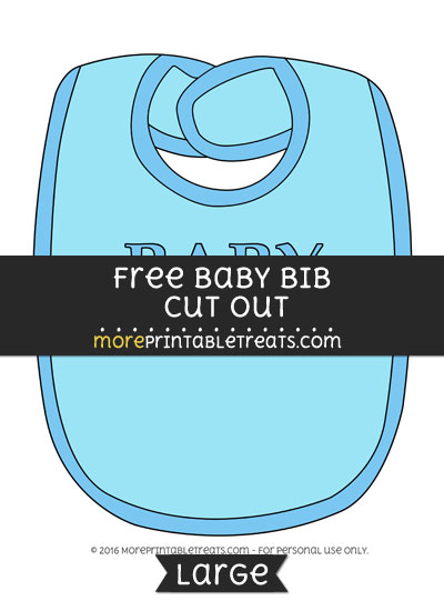 Free Baby Bib In Blue Cut Out - Large