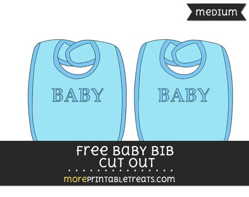 Free Baby Bib In Blue Cut Out - Medium