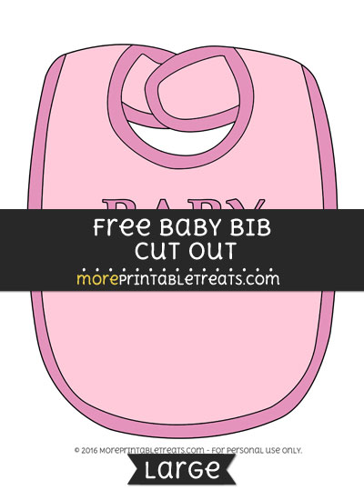 Free Baby Bib In Pink Cut Out - Large