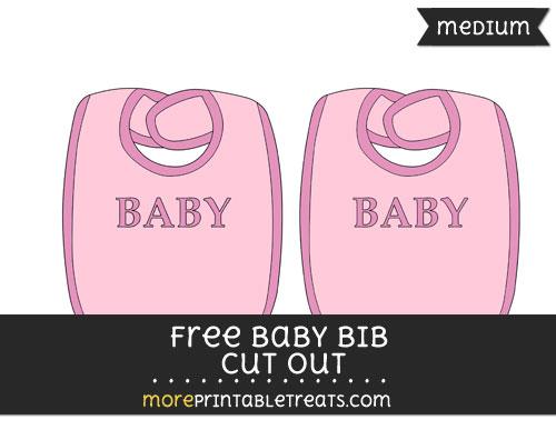 Free Baby Bib In Pink Cut Out - Medium