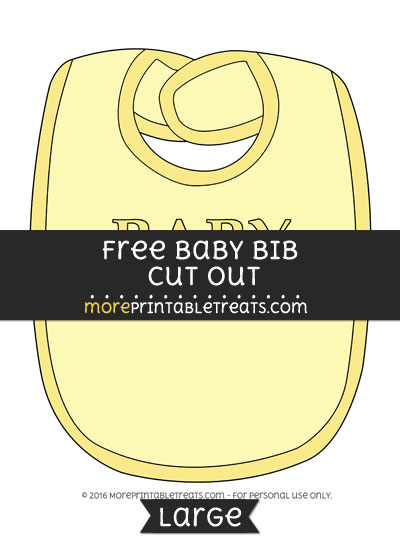 Free Baby Bib In Yellow Cut Out - Large