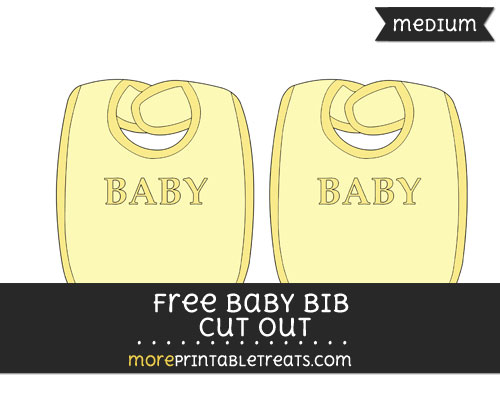 Free Baby Bib In Yellow Cut Out - Medium