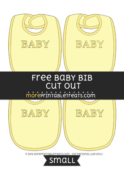 Free Baby Bib In Yellow Cut Out -Small