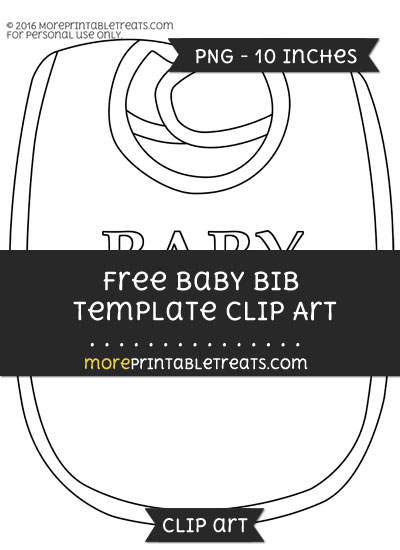 Free Baby Bib Template - Clipart