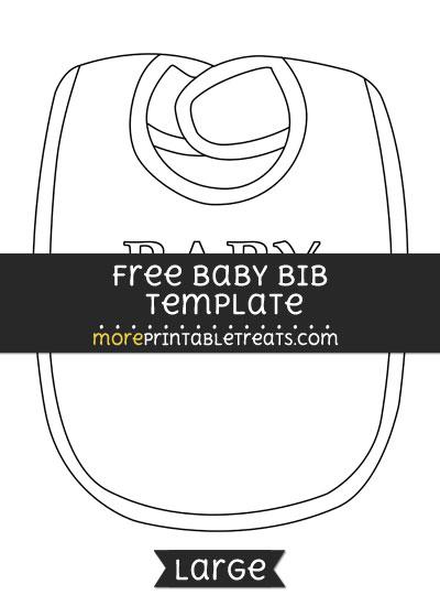 Free Baby Bib Template - Large