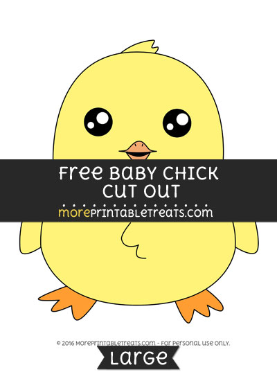 Free Baby Chick Cut Out - Large