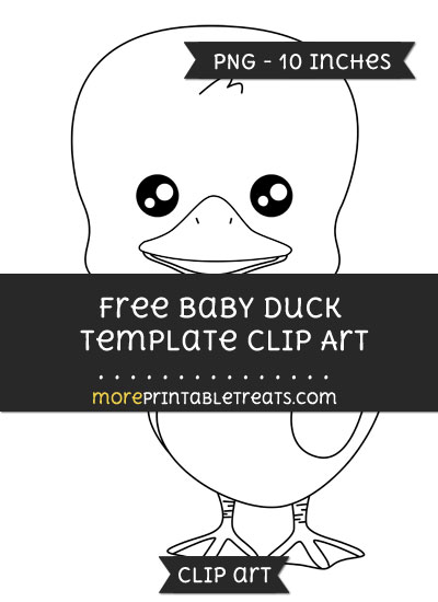 Free Baby Duck Template - Clipart